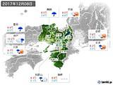 2017年12月08日の近畿地方の実況天気