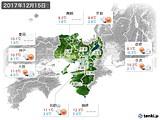 2017年12月15日の近畿地方の実況天気
