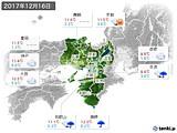2017年12月16日の近畿地方の実況天気