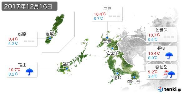 長崎県(2017年12月16日の天気