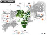 2017年12月18日の近畿地方の実況天気