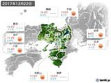 2017年12月22日の近畿地方の実況天気