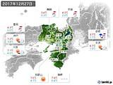 2017年12月27日の近畿地方の実況天気