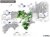 2017年12月29日の近畿地方の実況天気