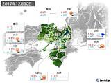 2017年12月30日の近畿地方の実況天気