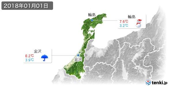 石川県(2018年01月01日の天気