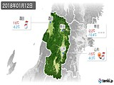 2018年01月12日の山形県の実況天気