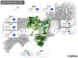 2018年01月17日の近畿地方の実況天気