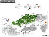 2018年01月23日の中国地方の実況天気