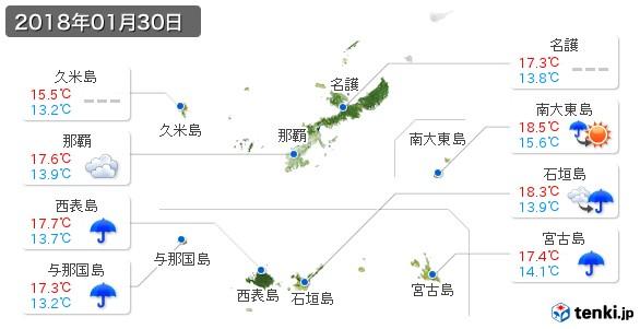 沖縄県(2018年01月30日の天気