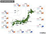 2018年02月01日の実況天気