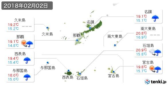 沖縄県(2018年02月02日の天気
