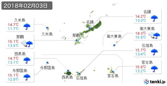 沖縄県(2018年02月03日の天気