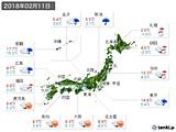 2018年02月11日の実況天気