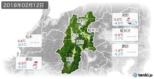長野県(2018年02月12日の天気