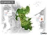 2018年02月17日の大分県の実況天気