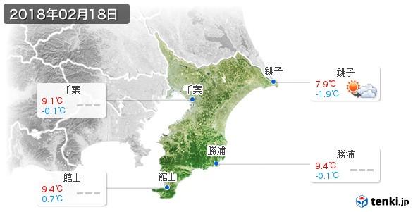 千葉県(2018年02月18日の天気