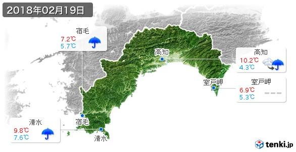 高知県(2018年02月19日の天気
