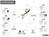実況天気(2018年02月28日)