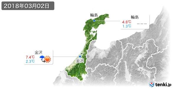 石川県(2018年03月02日の天気