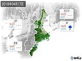 2018年04月17日の三重県の実況天気