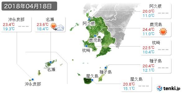 鹿児島県(2018年04月18日の天気