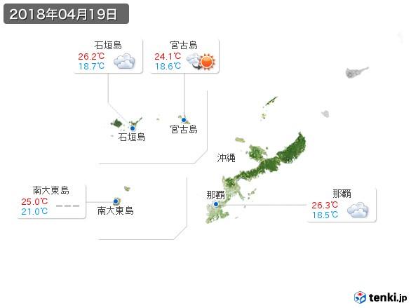 沖縄地方(2018年04月19日の天気