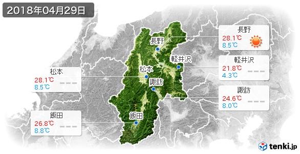 長野県(2018年04月29日の天気