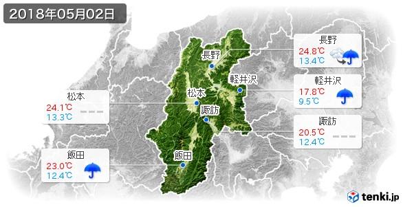 長野県(2018年05月02日の天気
