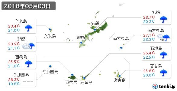 沖縄県(2018年05月03日の天気