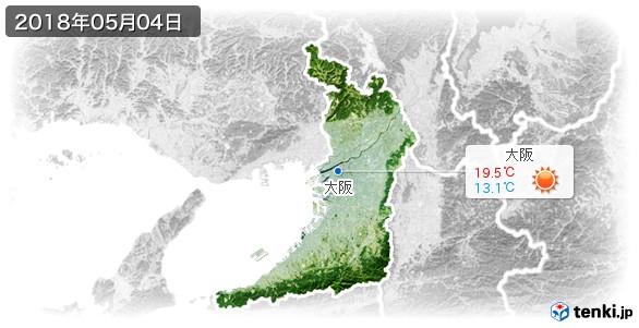 大阪府(2018年05月04日の天気