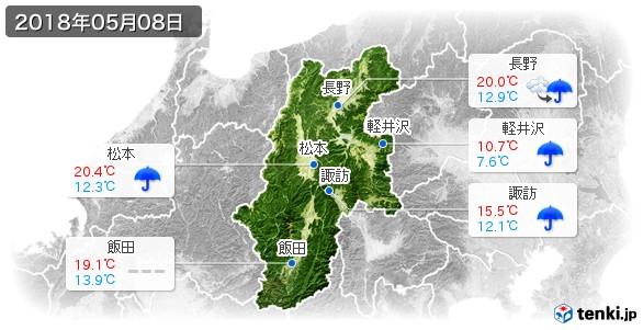 長野県(2018年05月08日の天気