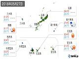 2018年05月27日の沖縄県の実況天気