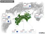 2018年05月28日の四国地方の実況天気