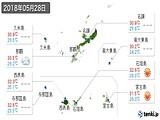2018年05月28日の沖縄県の実況天気
