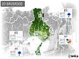 2018年05月30日の兵庫県の実況天気