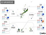 2018年06月03日の沖縄県の実況天気