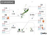 2018年06月04日の沖縄県の実況天気