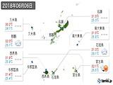 2018年06月06日の沖縄県の実況天気