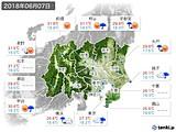 2018年06月07日の関東・甲信地方の実況天気