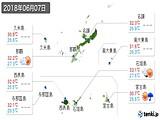 2018年06月07日の沖縄県の実況天気