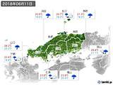 2018年06月11日の中国地方の実況天気