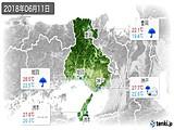 2018年06月11日の兵庫県の実況天気