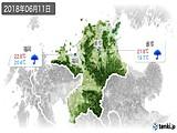 2018年06月11日の福岡県の実況天気