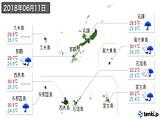 2018年06月11日の沖縄県の実況天気