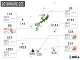 2018年06月12日の沖縄県の実況天気