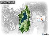 2018年06月14日の滋賀県の実況天気