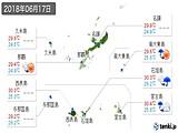 2018年06月17日の沖縄県の実況天気