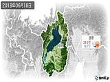 2018年06月18日の滋賀県の実況天気