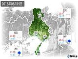 2018年06月19日の兵庫県の実況天気
